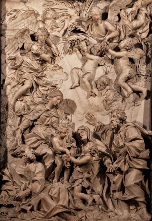 Sant'Agnese in Agone, ołtarz główny, Domenico Guidi