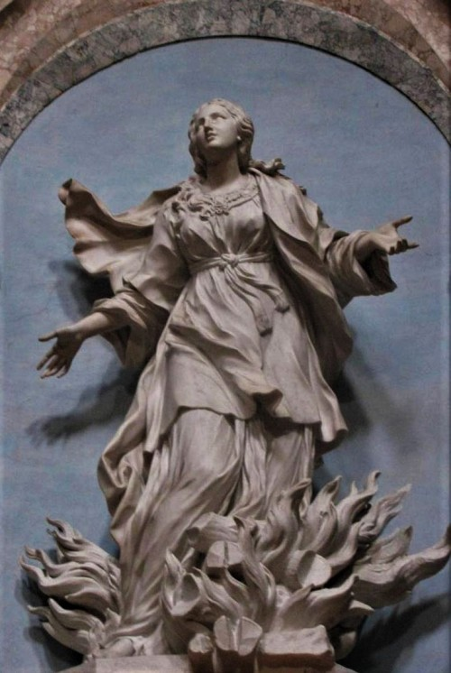 Sant'Agnese in Agone, statue of St. Agnes