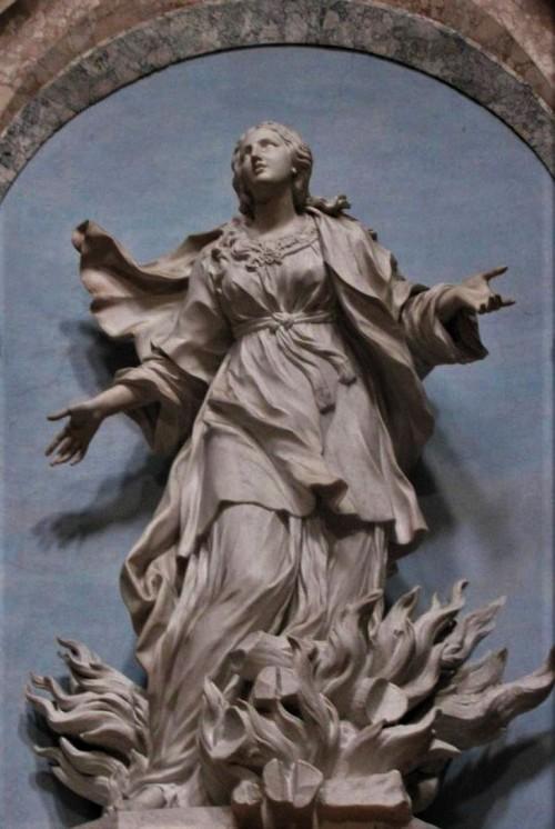 Sant'Agnese in Agone, posąg św. Agnieszki
