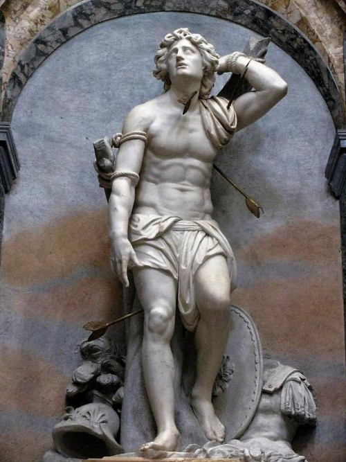 Church of Sant'Agnese in Agone, statue of St. Sebastian, Pier Paolo Campi