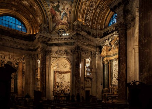 Church of Sant'Agnese in Agone, interior, directly opposite, the altar of St. Cecilia