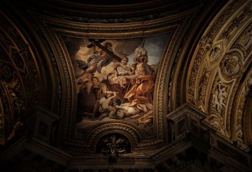 Sant'Agnese in Agone,malowidło w pendentywach, Męstwo i Miłosierdzie, Baciccio
