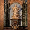 Church of Sant'Agnese in Agone, side altar – St. Agnes in Flames, Ercole Ferrata