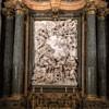 Sant'Agnese in Agone, ołtarz główny, Dwie święte rodziny - Chrystusa i św. Jana Chrzciciela, Domenico Guidi