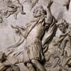 Sant'Agnese in Agone, ołtarz św. Eustachego, płaskorzeźba, Melchiorre Caffa