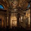 Sant'Agnese in Agone, wnętrze, na wprost ołtarz św. Cecylii