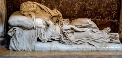Sant'Andrea delle Fratte, kaplica św. Anny, posąg św. Anny, Giovanni Battista Maini