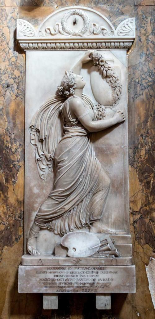 Sant'Andrea delle Fratte, płyta nagrobna upamiętniająca Mariannę Caffarelli Bufalo, początek XIX w.