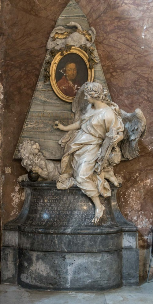 Sant'Andrea delle Fratte, pomnik nagrobny kardynała C. L. Calcagniniego, Pietro Bracci, 1746 r.