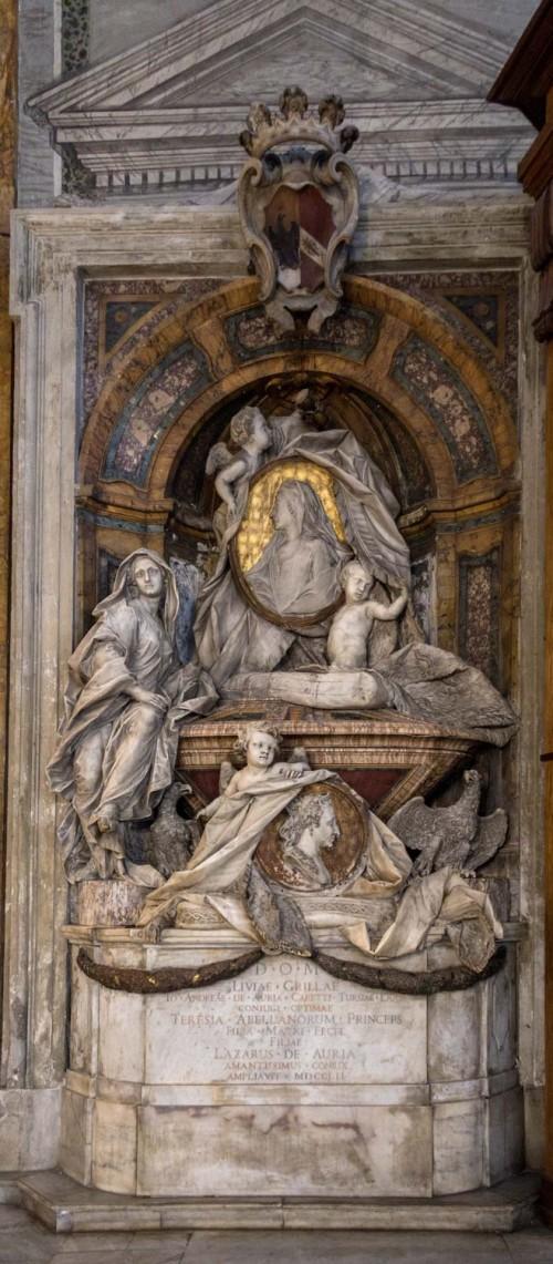 Sant'Andrea delle Fratte, pomnik nagrobny księżnej L. del Grillo i M.T. di Doria Tursi, Francesco Queirolo