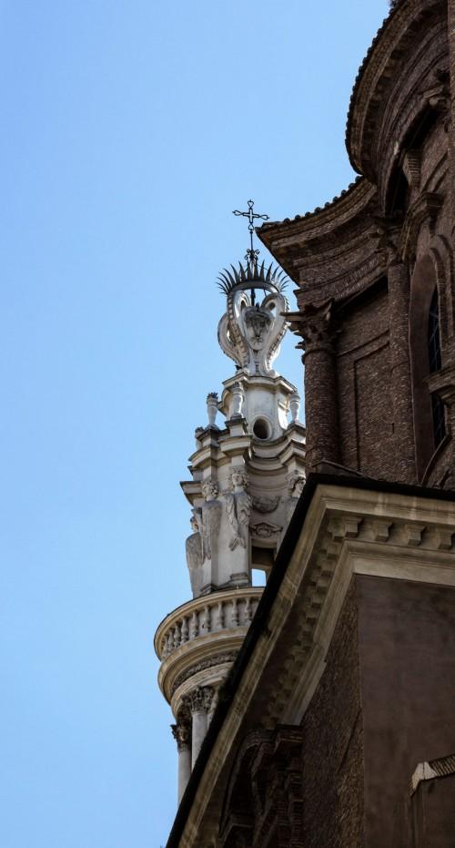 Sant'Andrea delle Fratte, zwieńczenie dzwonnicy kościelnej, Francesco Borromini