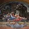 Sant'Andrea delle Fratte, jedno z malowideł w krużgankach