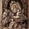 Sant'Andrea delle Fratte, pomnik nagrobny księżnej L. del Grillo i M.T. di Doria Tursi, F. Queirolo, fragment