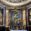 Sant'Andrea delle Fratte, widok absydy - obrazy B. Leonardi, L. Baldi i F. Trevisiani - Męczeństwo św. Andrzeja