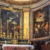 Basilica of Sant'Andrea delle Fratte, view of the apse with paintings of L. Baldi (The Crucifixion of St. Andrew) and F. Trevisiani (The Burial of St. Andrew)