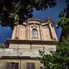 Sant'Andrea delle Fratte, widok na wieżowe zwieńczenie kopuły, projekt Francesco Borromini