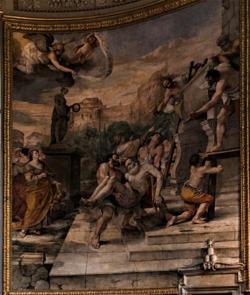 Pochówek św. Andrzeja, fresk absydy kościoła Sant'Andrea della Valle