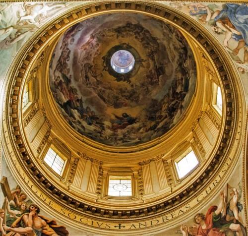 Sant'Andrea della Valla, malowidła kopuły - Giovanni Lanfranco