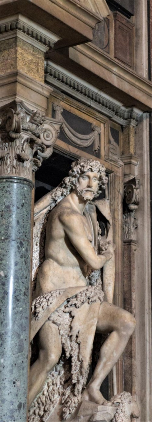 Basilica of Sant'Andrea della Valle, Barberini Chapel, statue of St. John the Baptist