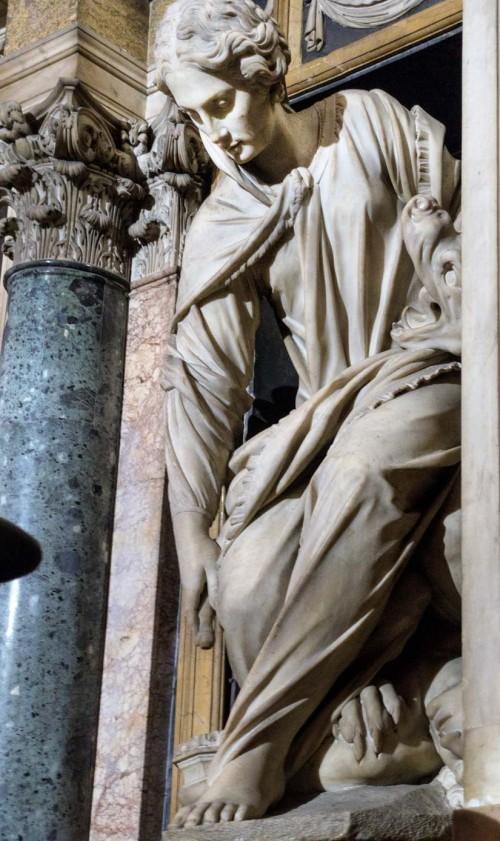 Basilica of Sant'Andrea della Valle, Sant'Andrea della Valle, Barberini Chapel, statue of Martha – Francesco Mochi