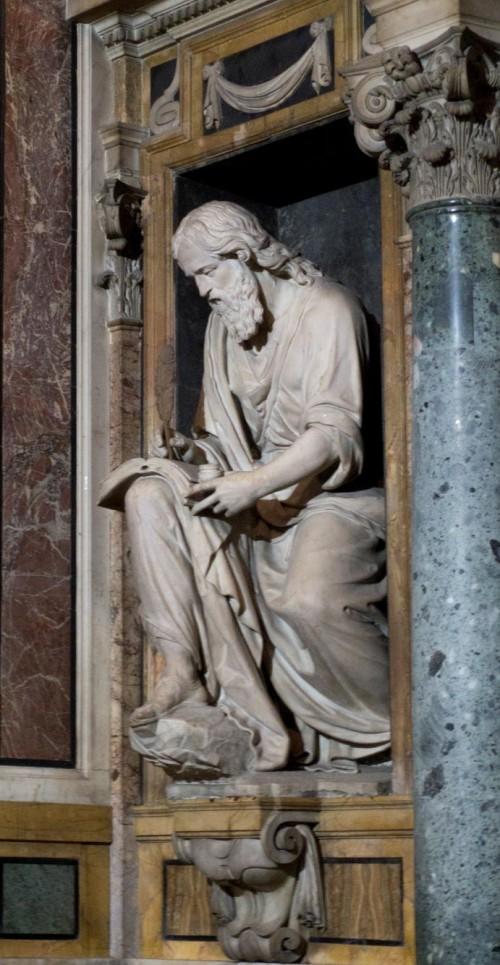 Sant'Andrea della Valle, kaplica Barberinich, posąg św. Jana Ewangelisty