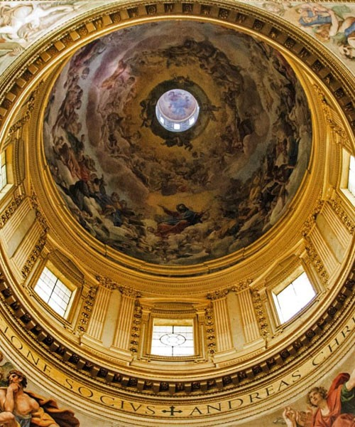 Basilica of Sant'Andrea della Valle, pendentives of the dome with paintings by Domenichino