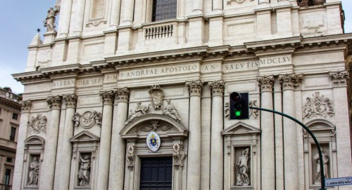 Central part of the façade of the Church of Sant'Andrea della Valle