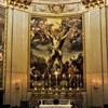 Basilica of Sant' Andrea della Valle, Mattia Preti – The  Martyrdom of St. Andrew – frescoes in the apse