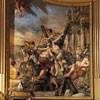 Basilica of Sant'Andrea della Valle, Preparation for the torture of St. Andrew, fresco in the apse