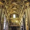 Basilica of Sant'Andrea della Valle, view of the interior from the main enterance
