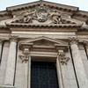 Zwieńczenie fasady kościoła Sant'Andrea della Valle - herb papieża Aleksandra VII