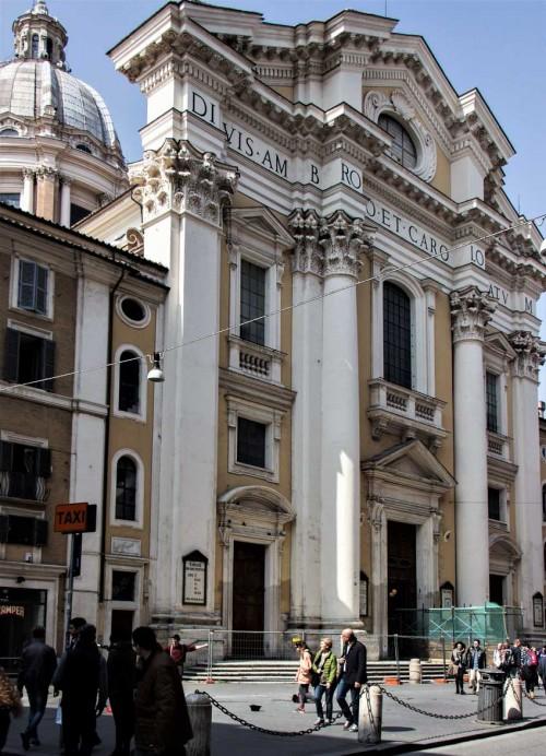 Basilica of San Carlo al Corso, façade, Alessandro Omodei