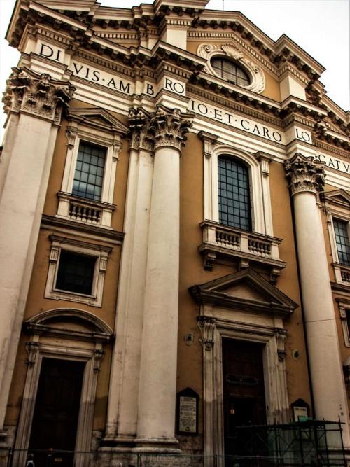 San Carlo al Corso, fasada z końca XVIII w.