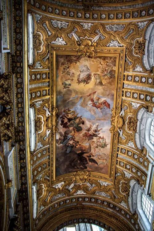 Basilica of San Carlo al Corso, vault fresco – Fall of the Rebel Angels, Giacinto Brandi