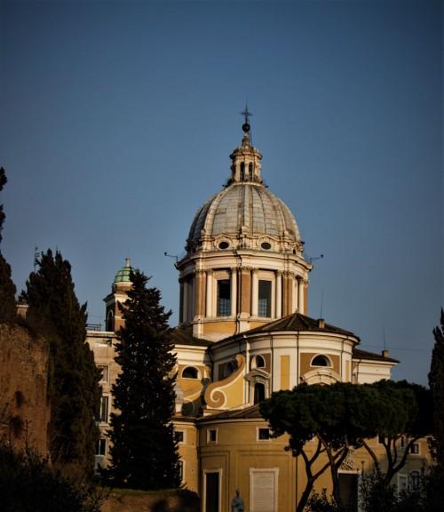 Basilica of San Carlo al Corso, dome of the church designed by Pietro da Cortona