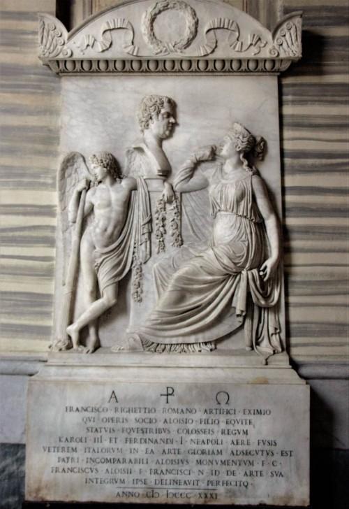 Basilica of San Carlo al Corso, tombstone of Francesco Righetti in the altar ambulatory