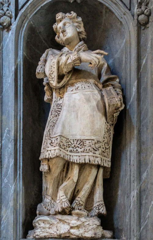 San Carlo al Corso, św. Szczepan w obejściu kościoła, Francesco Cavallini
