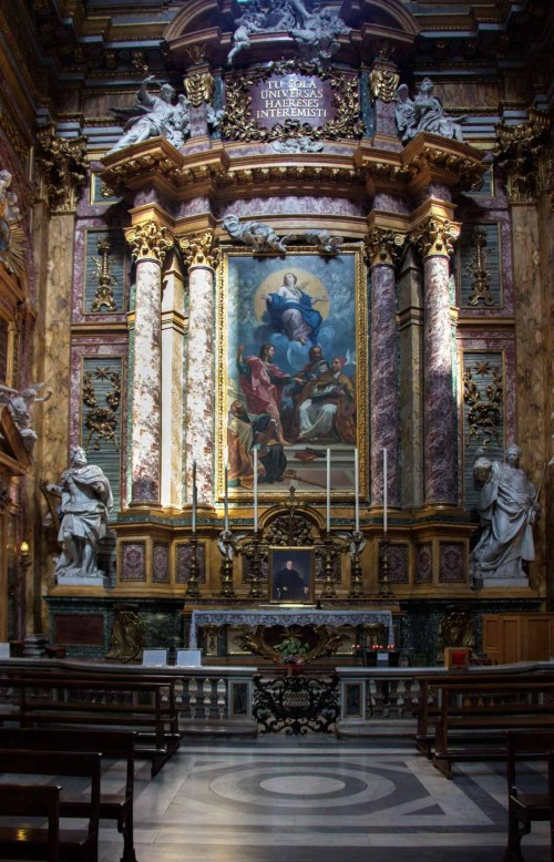 San Carlo al Corso, The Altar of  Immaculate Conception in the transept, painting – Carlo Maratti (copy)