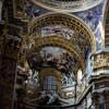 Basilica of San Carlo al Corso, frescoes and stuccos of the main altar