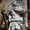 Basilica of San Carlo al Corso, Chapel of the Immaculate Conception, figure of David, André Jean Le Brun