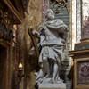 Basilica of San Carlo al Corso, The Altar of Immaculate Conception, transept, statue of David, André Jean Le Brun