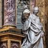 Basilica of San Carlo al Corso, The Altar of Immaculate Conception, transept, statue of Judith, Pietro Pacilli