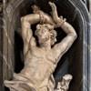 San Carlo al Corso, posąg św. Sebastiana w obejściu kościoła, Francesco Cavallini
