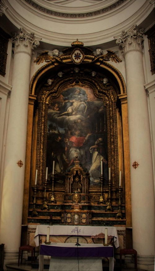 Church of San Carlo alle Quattro Fontane, main altar, Pierre Mignard