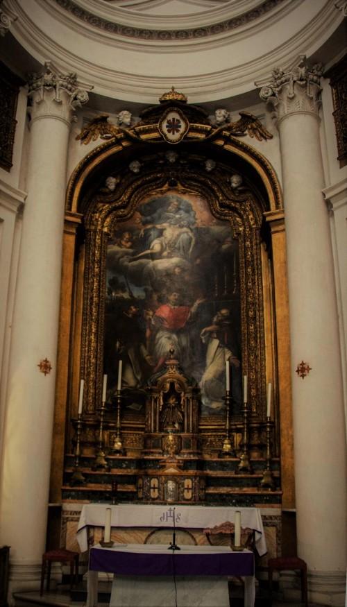 San Carlo alle Quattro Fontane, ołtarz główny, Pierre Mignard