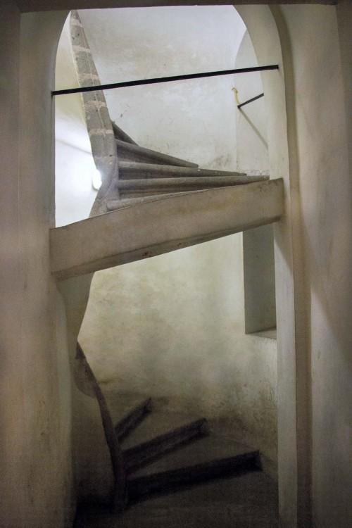 San Carlo alle Quattro Fontane, schody prowadzące do krypty, Francesco Borromini