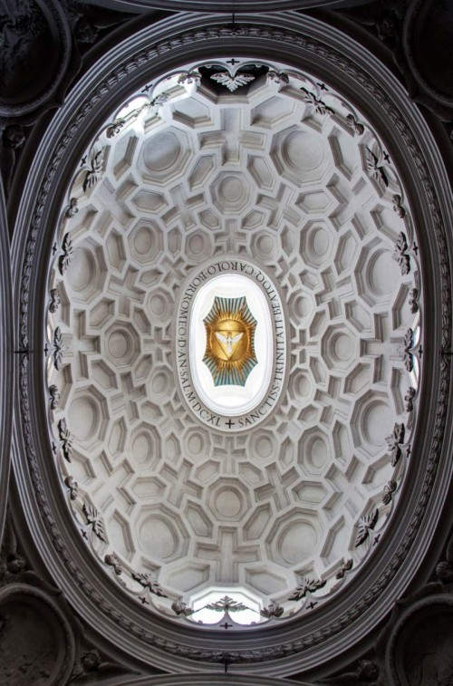 Church of San Carlo alle Quattro Fontane, dome, Francesco Borromini