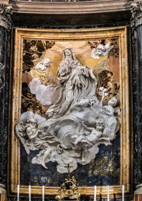 Santa Caterina da Siena a Magnanapoli, Ekstaza św. Katarzyny ze Sieny, Melchiorre Caffa