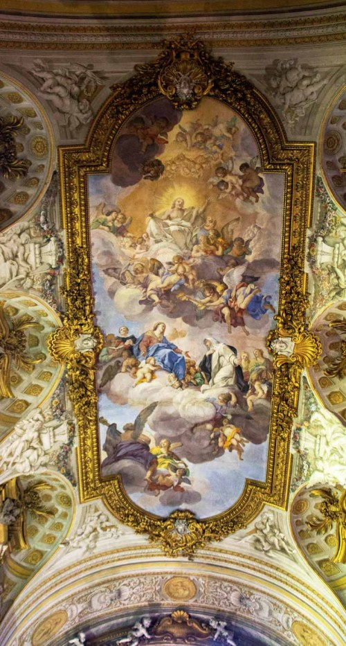 Church of Santa Caterina da Siena a Magnanapoli, The Glory of St. Catherine of Siena, ceiling paintings