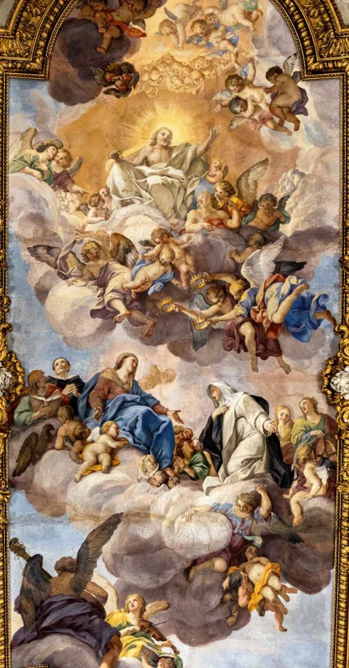 Church of Santa Caterina da Siena a Magnanapoli, The Glory of St. Catherine of Siena, ceiling paintings, fragment